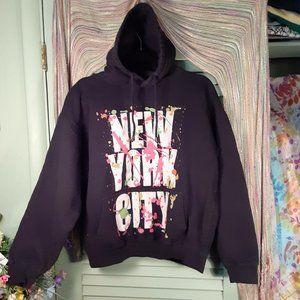 Vintage 'New York City' 90s graphic hoodie sz M